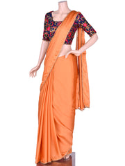 Kashmiri Orange Choli Saree
