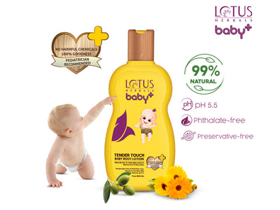 Lotus Herbals baby+ Tender Touch Baby Body Lotion 200ml - Roop Darshan