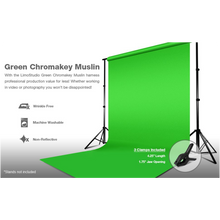 LimoStudio Green Chromokey Muslin Background  Screen For Photo Video Studio