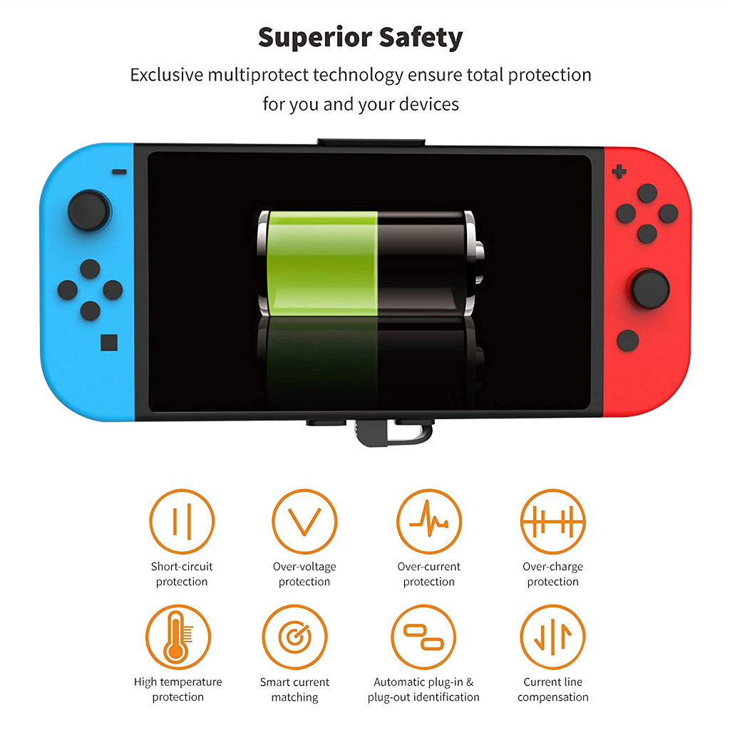 Portable Power Bank for Nintendo Switch