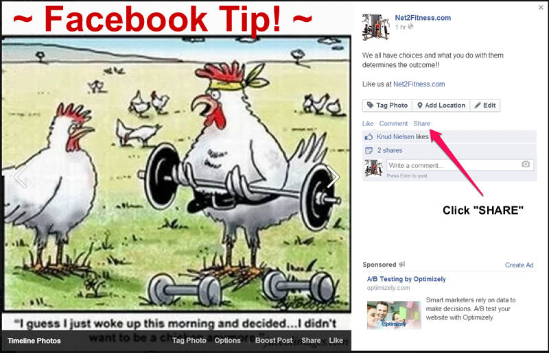 Facebook Tip Sharing On Relevant Groups