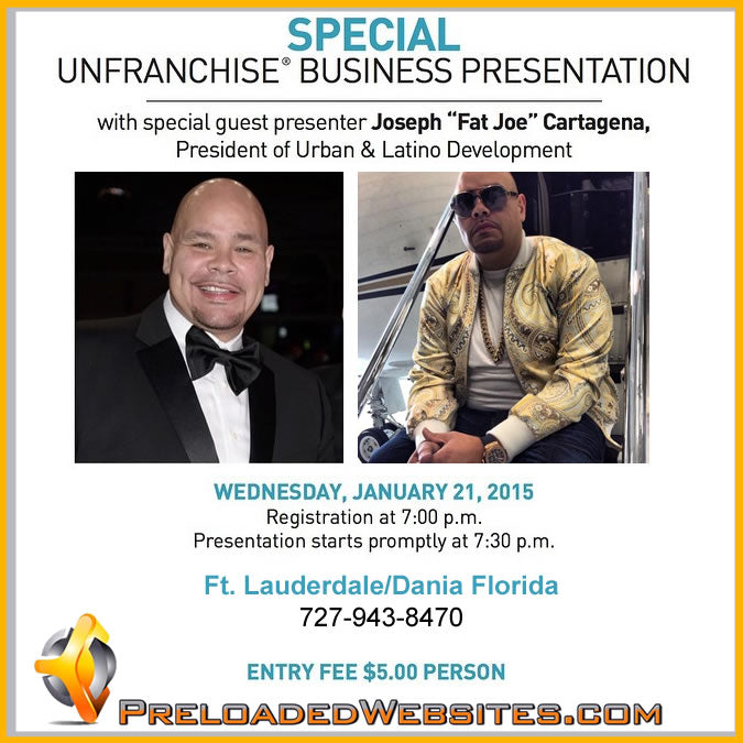 Business Presentation Hosted by Fat Joe In Florida