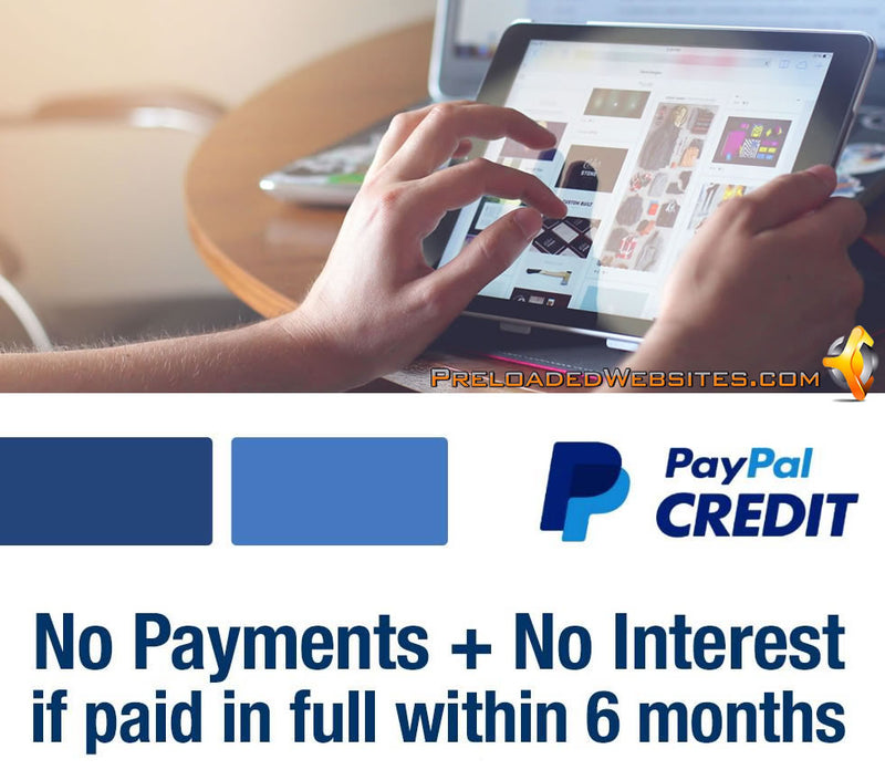 No Payments No Interest With PayPal Credit