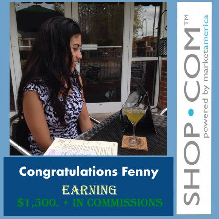 Congratulations Fenny Earning $1,500 In Commissions!