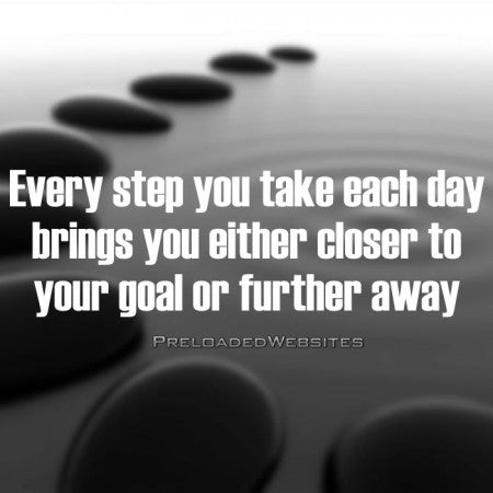 Every Step You Take Each Day Quote