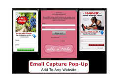 email capture pop up