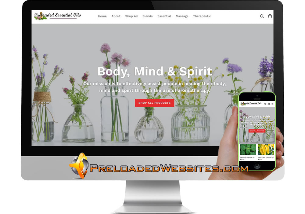 Preloaded Essential Oil Store