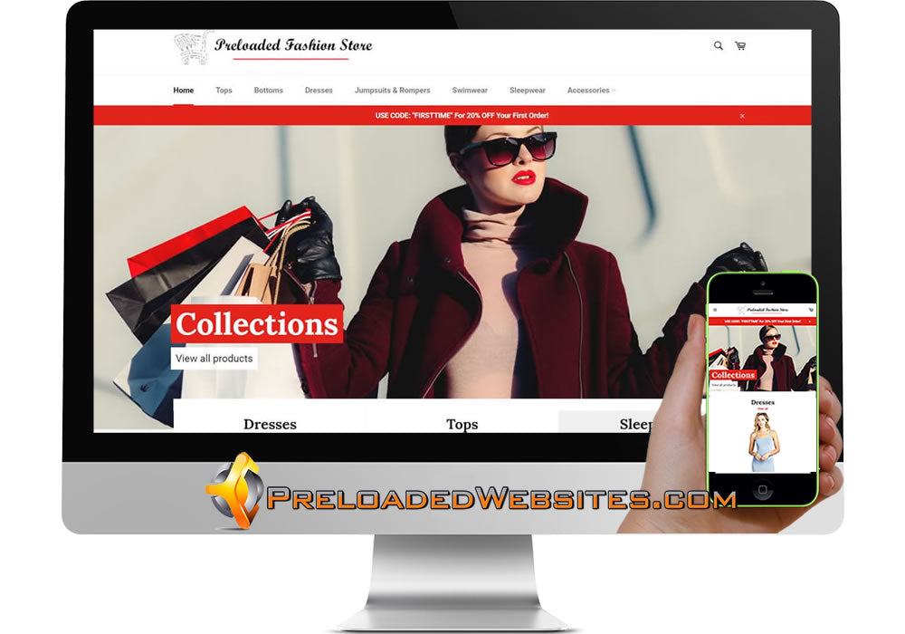 Preloaded Fashion Shopify Store Website