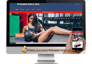 Preloaded Fitness Shopify Store Website