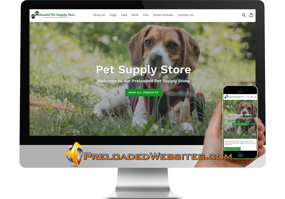 Preloaded Pet Supply Shopify Store Website