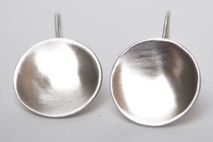 Brushed Cup Earrings