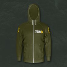 Load image into Gallery viewer, Squad Leader Army Green Zip Hoodie