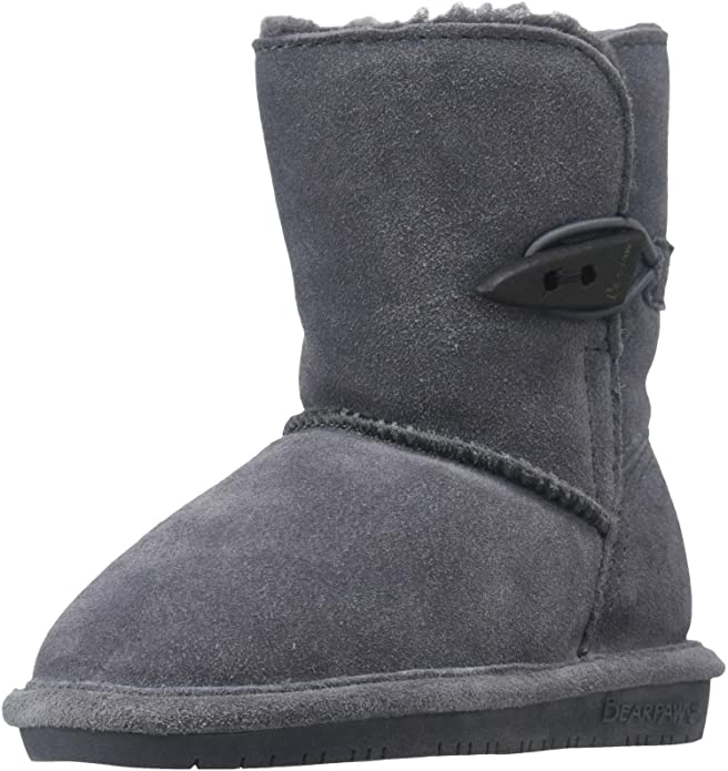 Bearpaw Abigail Shearling Boot (Little Kid),Charcoal,11 M US Little Kid