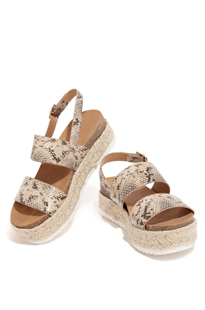 Kaz Espadrilles Rubber Trim Sole Ankle Buckle Open Toe Studded Wedge Sandals