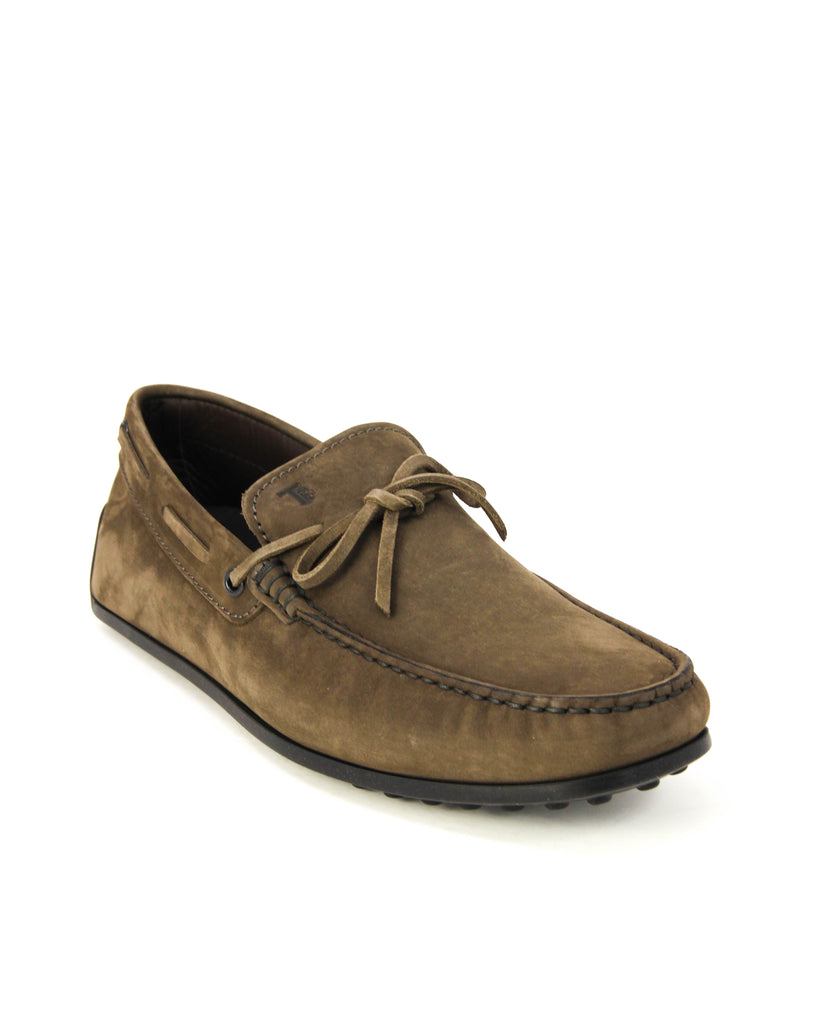 Tod's Men's LACCETTO Gommino Suede Moccasins Loafers Shoes, ARGILLA SCURO XXM0VH00050FL1B208