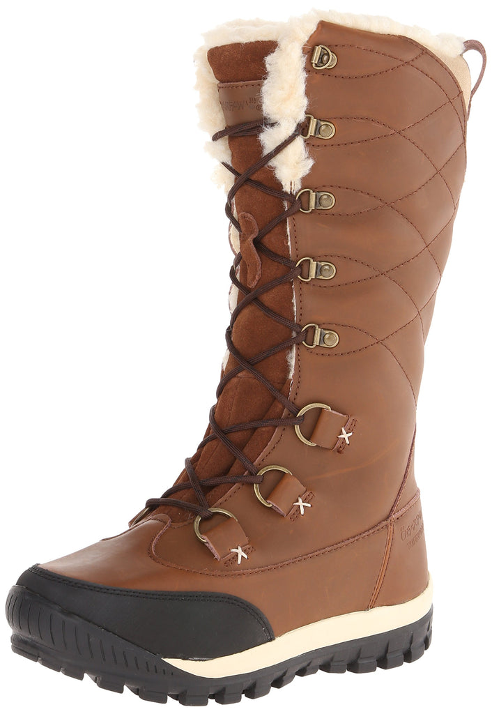 Bearpaw Women's Isabella Lace Up Tall HIckory Brown Snow Boot