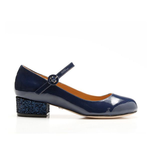 Cecelia New York Dion NAVY Snake Embossed Mary-Jane