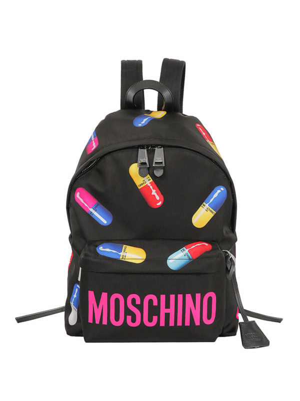 MOSCHINO CAPSULE BACKPACK BLACK COLORFUL A769982501555