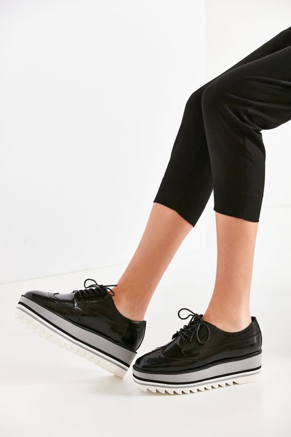 Jeffrey Campbell ELIOT Platform Oxford Reinvented for Women, Black