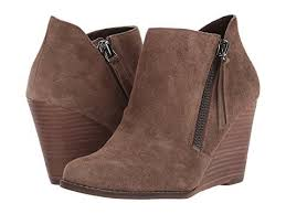 Jessica Simpson Women's Carnivela Ankle Boot moss brown Wedge Booties