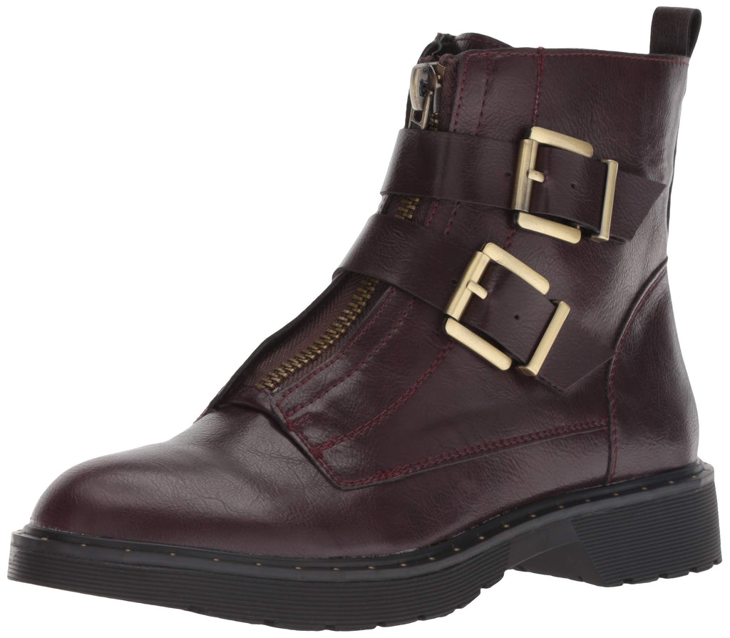 Dirty Laundry by Chinese Laundry Women's Joplin Motorcycle Boot, Oxblood Smooth,