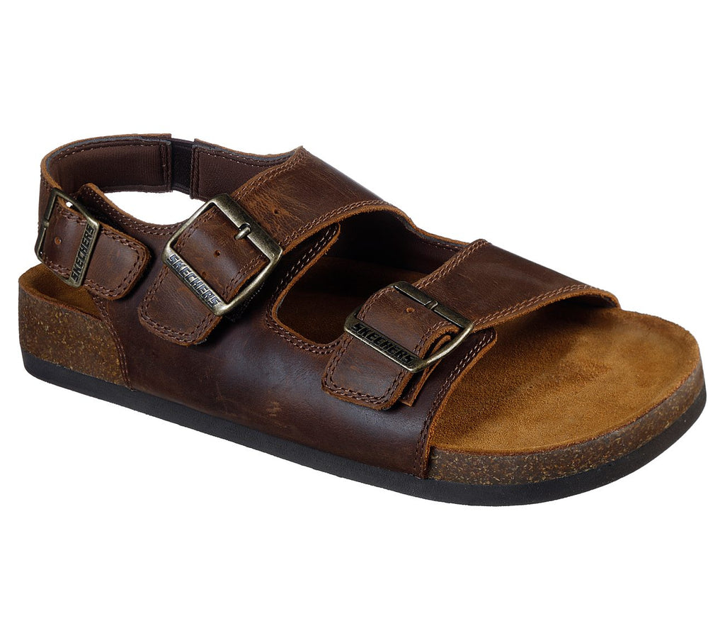 Skechers Men's Krevon Molded Footbed Sandal Dark Brown