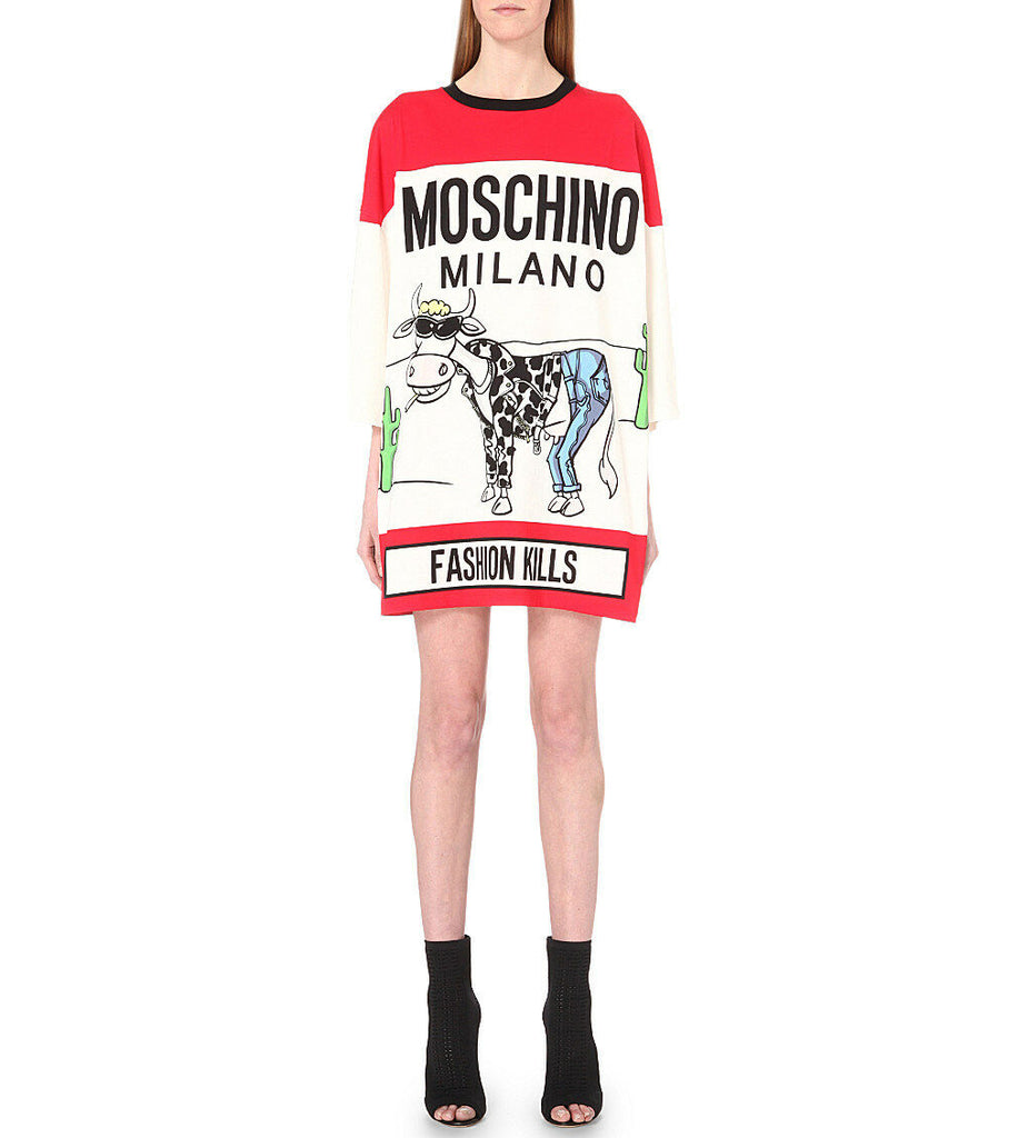 Moschino Cow Dress T090191001114