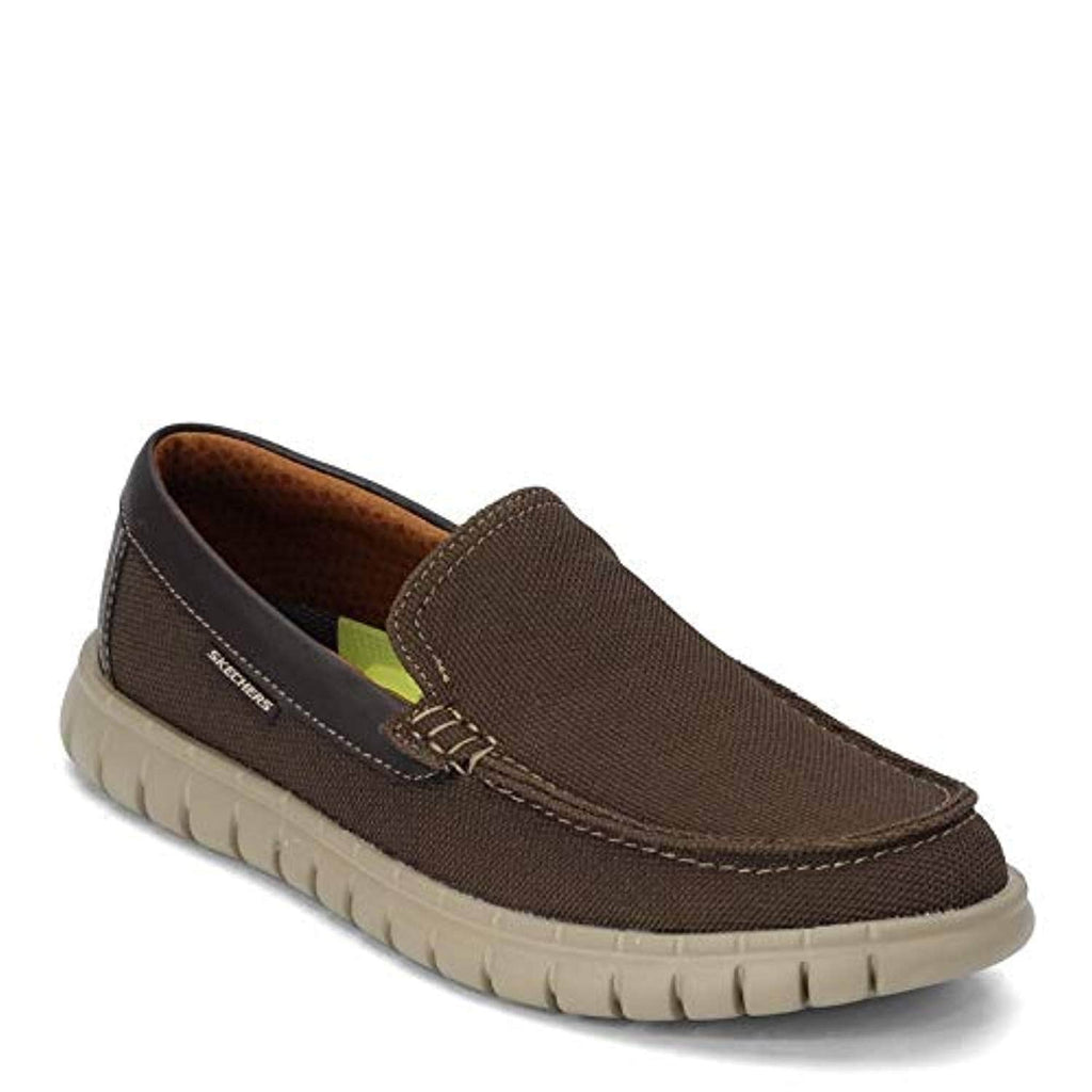 Skechers Men's Moreway-Chapson Slip on Canvas Loafer Brown