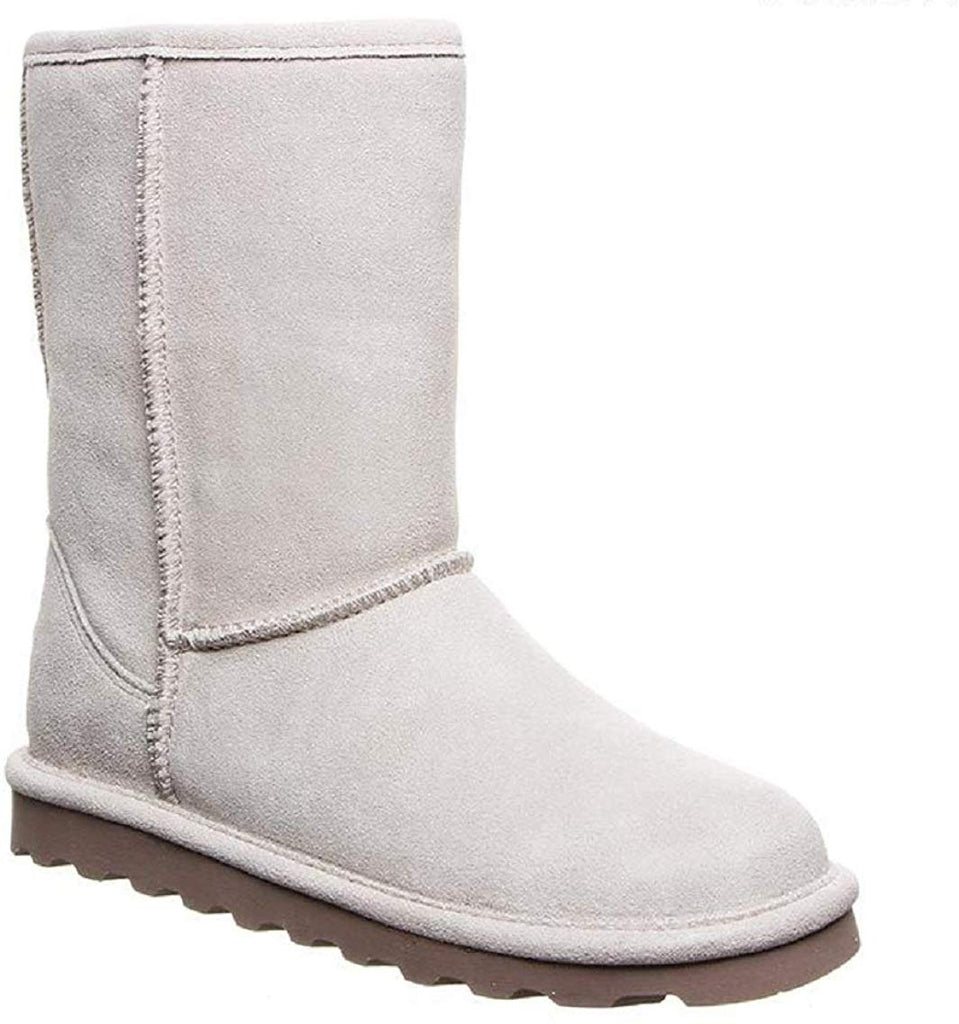 Bearpaw Women's Elle Short Winter White Fur Lined Water Resistant Winter Boot