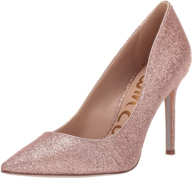 Sam Edelman Women's Hazel Pump, Rose Gold Mini Glitter,