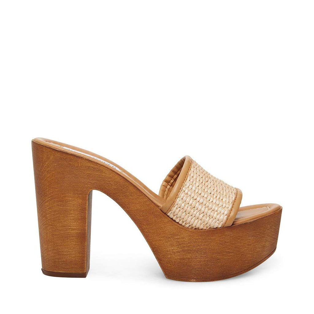 Steve Madden  Marisol Heeled Sandal Clog Made In Italy Mule Wood Pumps