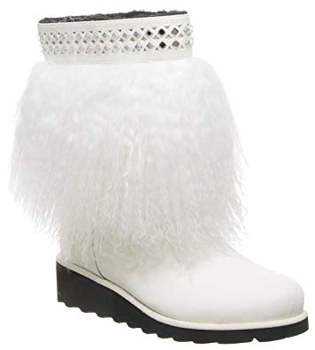 Bearpaw Elise Women's 9 Inch Boot White Furrry Winter Snow Boots