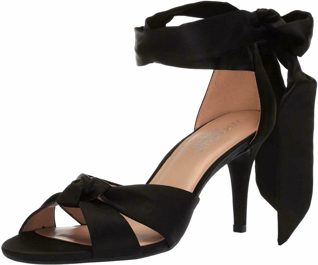 Aerosoles Women's Market Sandal Black Satin Formal Pumps