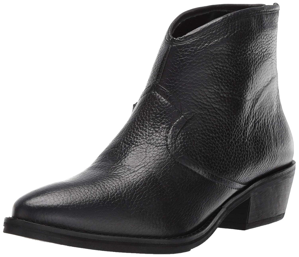Lust For Life Women's Patron Ankle Boot Black Leather Pointed Western Bootie