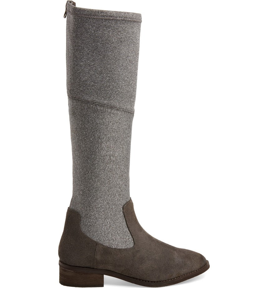Klub Nico Zuri KNee Grey Flannel Brown Suede Riding Boots