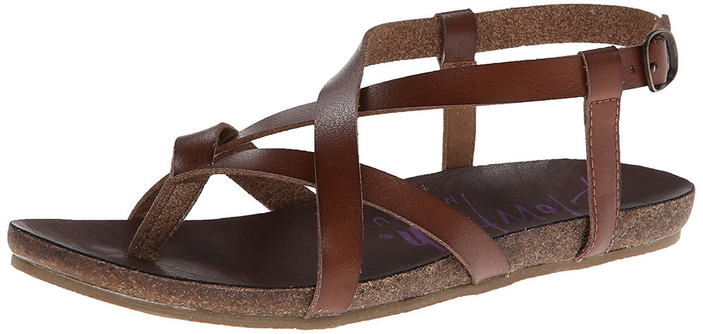 Blowfish Granola Fisherman Sandal Whiskey Dyecut PU Footbed Thong Sandals