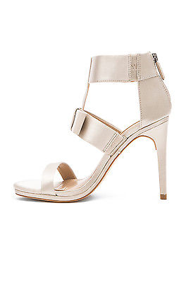 BCBGMAXAZRIA GALE NUDE SATIN OPEN BOW DESIGNER EVENING FORMAL DRESS SANDAL