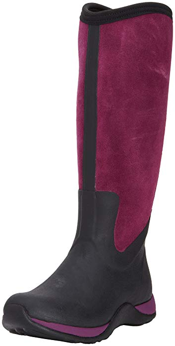 MuckBoots Women's Black Purple Arctic Adventure Suede Zip Snow Boot