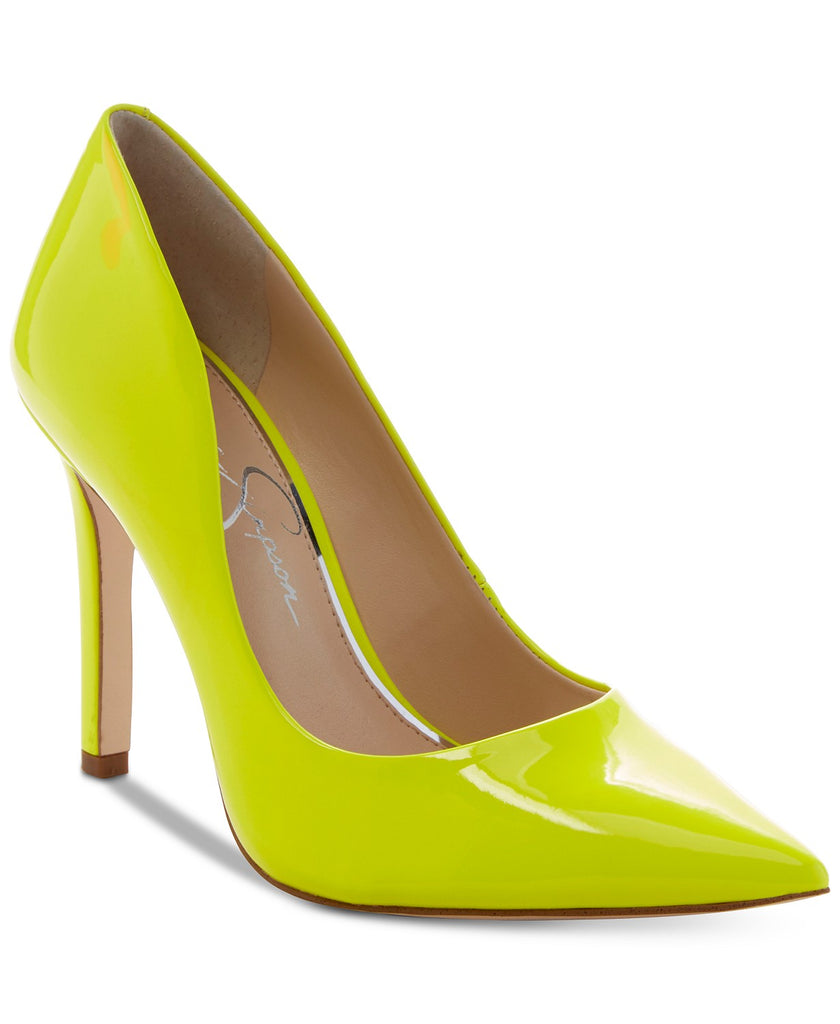 Jessica Simpson Neon Yellow Shock Heeled Pointed Toe Dress Pump