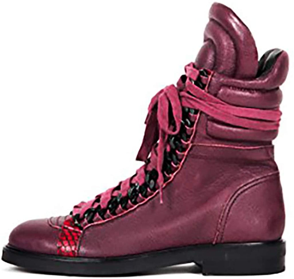 Lust For Life Oasis Women's BORDEAUX Leather Combat Boot