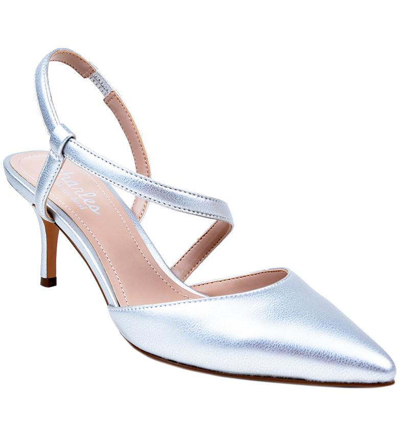 CHARLES BY Charles David Women's Alda Pump Silver Mettalic Pointed Pumps