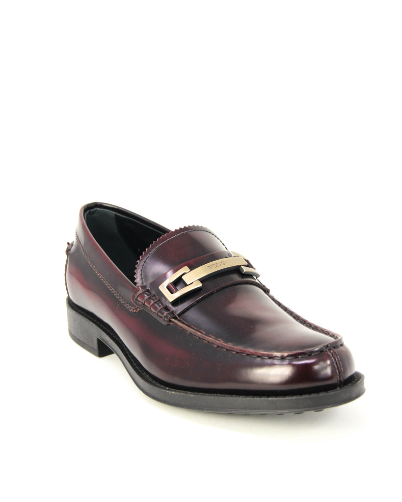 Tod's Men's Macro Leather Moccasins Loafers BORDEAUX XXM0UD0N651AKTR802
