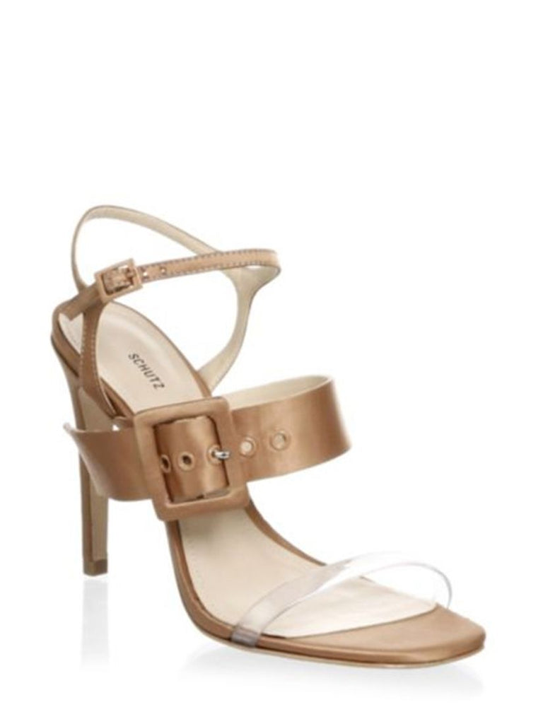 Schutz Prunella Toasted Nut High Heel Dainty Dress Sandal Pump
