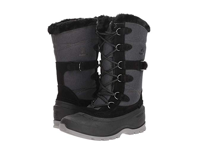 Kamik Women's Snovalley2 Snow Boot (8, BLACK)