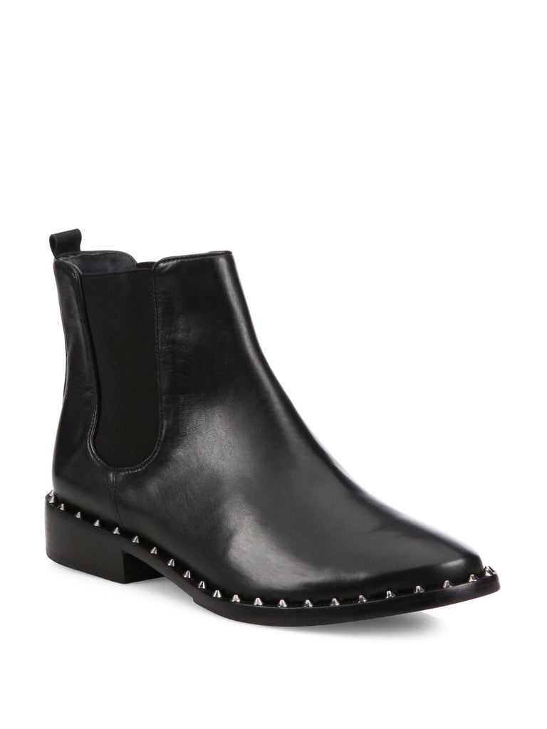 Schutz Shabba Black Leather Boot Chelsea Ankle Booties