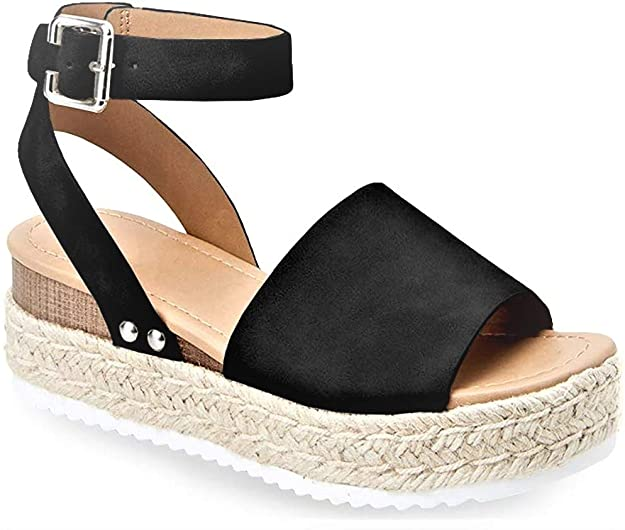 SODA Women's Topic Black Nubuck Synthetic sandals