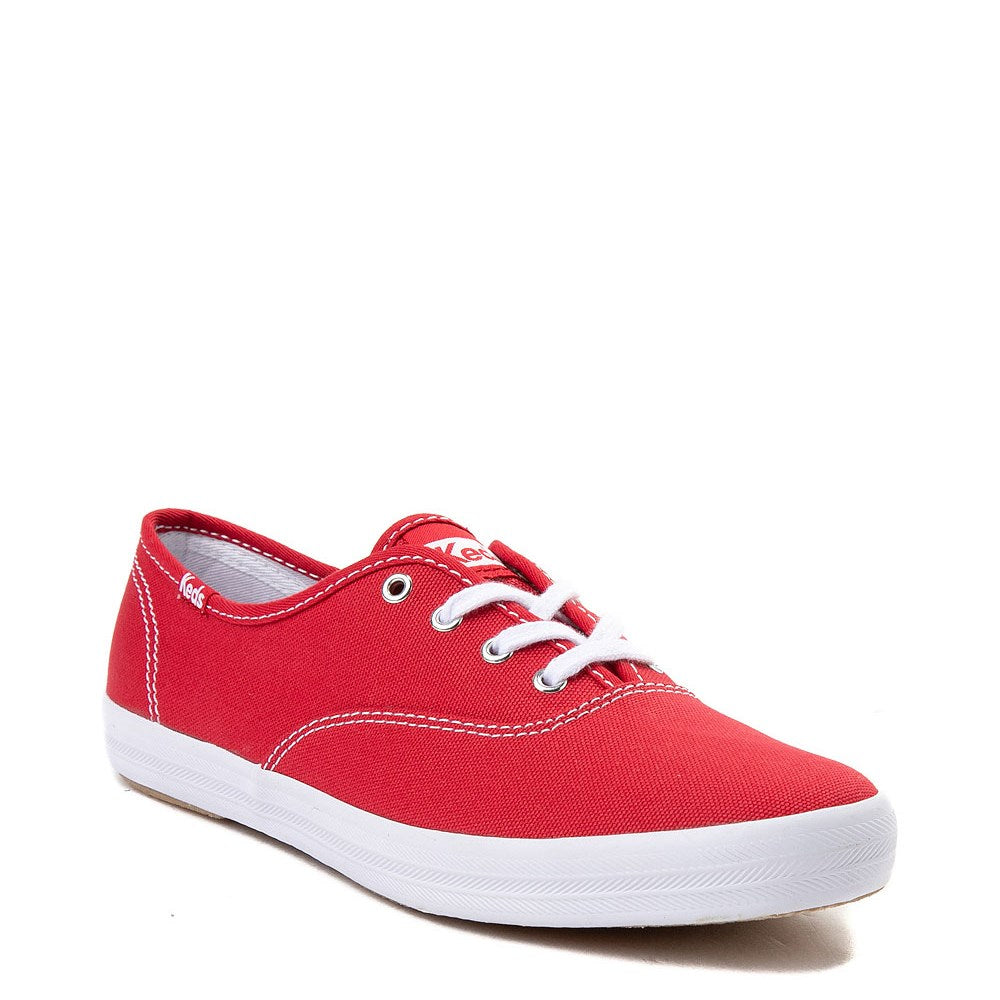 Keds Womens Champion Originals Casual Sneakers, Red lace up Tennis shoes