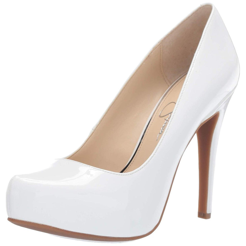 Jessica Simpson Parisah Pointed Toe Classic White Patent Leather Pumps