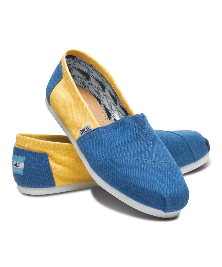 Toms Classic UCLA Campus Canvas Yellow/Blue Give Back to The world