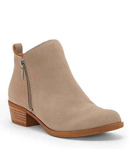 Lucky Brand Women's Basel Ankle Bootie (8.5, Chinchila)